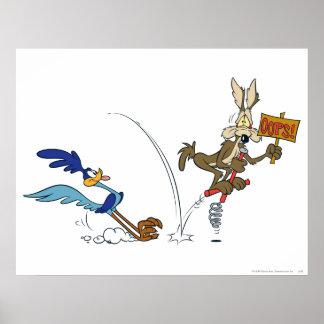 Kojote-und Roadrunner-Gipfel-Produkte 7 des Wile-E Plakate
