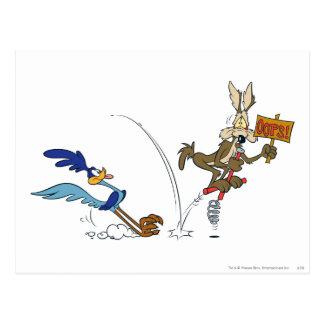 Kojote-und Roadrunner-Gipfel-Produkte 7 des Wile-E Postkarten