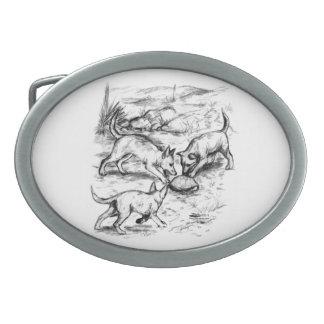 Kojote-Welpen Ovale Gürtelschnallen