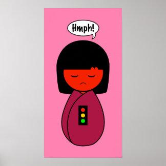 Kokeshi Mädchen Hmph! Poster