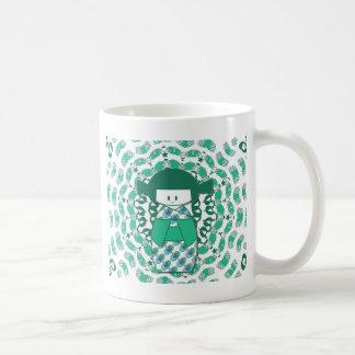 Kokeshi Puppe, grün Kaffeetasse
