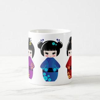 Kokeshi Puppen Kaffeetasse