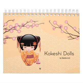 Kokeshi Puppen Kalender