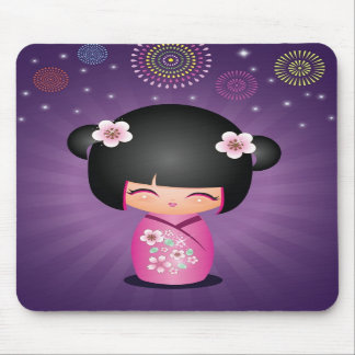Kokeshi Süssefeuerwerke Mousepad
