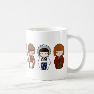 Kokeshi WeihnachtsTasse 2 Kaffeetasse