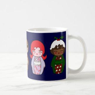 Kokeshi WeihnachtsTasse Kaffeetasse