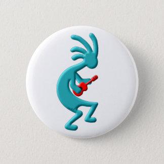 Kokopelli amerikanischer UreinwohnerUkulele Runder Button 5,7 Cm