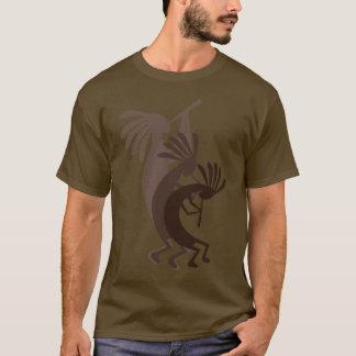 Kokopelli erhält hinunter das T-Shirt Brown-Männer