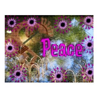 Kokopelli Frieden Postkarte