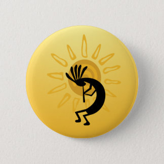 Kokopelli Goldsun-Knopf Runder Button 5,7 Cm