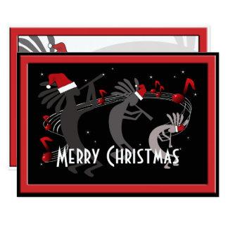 Kokopelli Weihnachtsflache Gruß-Karte Karte
