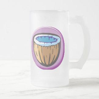 Kokosnuss 1 mattglas bierglas