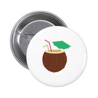 Kokosnuss-Getränk Runder Button 5,7 Cm