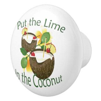 Kokosnuss-Getränk Tiki Bar-Tür-Griff Keramikknauf
