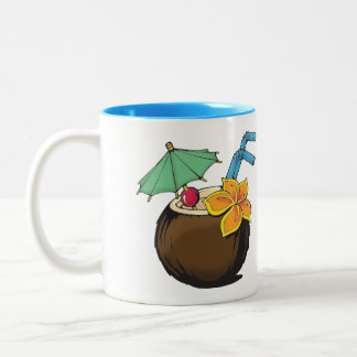 Kokosnuss-Kaffee-Tasse Zweifarbige Tasse