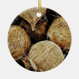 Kokosnüsse Keramik Ornament