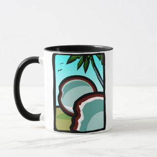 Kokosnüsse und Palmen Tasse
