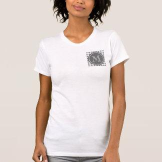 Koksgrauer und weißer Gingham, Ihr Monogramm T-Shirt