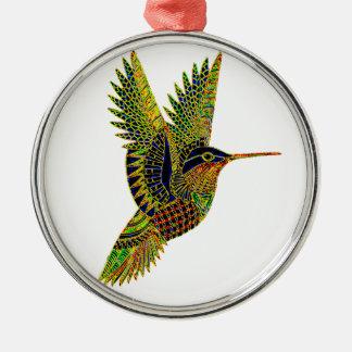 Kolibri 7b silbernes ornament