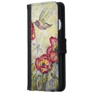 Kolibri-Aquarell-Kunst iPhone 6 Geldbörsen-Kasten Geldbeutel Hülle Für Das iPhone 6/6s