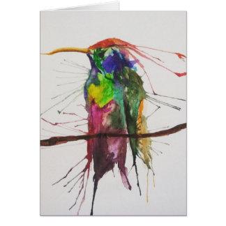 Kolibri-Aquarell Notecard Karte