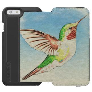 Kolibri-Blau-Kunst Incipio Watson™ iPhone 6 Geldbörsen Hülle