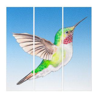 Kolibri-blaue Himmel Triptychon