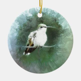 Kolibri-Blues Keramik Ornament