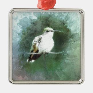 Kolibri-Blues Silbernes Ornament