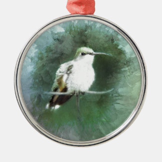 Kolibri-Blues Silbernes Ornament