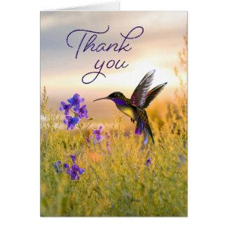 Kolibri-Blume danken Ihnen Mitteilungskarten Karte