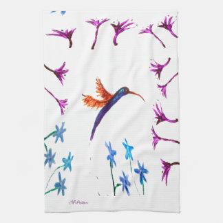 Kolibri-Blumen Geschirrtuch