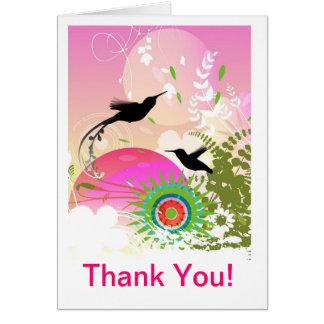 Kolibri danken Ihnen Mitteilungskarten Karte