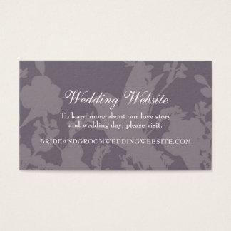 Kolibri-Garten-Pflaumen-elegante Hochzeits-Website Visitenkarte