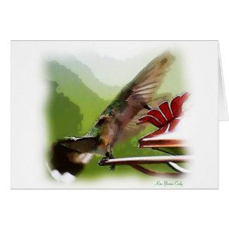 Kolibri-Gleiten Karte