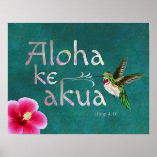 Kolibri-hawaiisches Bibel-Vers-Plakat Poster