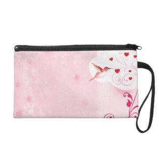 Kolibri-Herzen Wristlet Handtasche