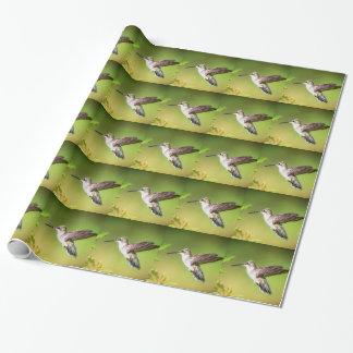 Kolibri im Flug Geschenkpapier