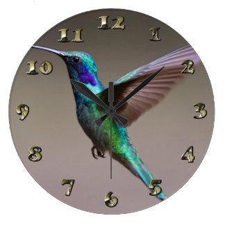 Kolibri im Flug Große Wanduhr