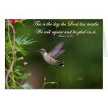 Kolibri-im Flug Psalm-118:24 Bibel-Vers Karte