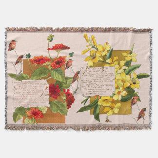 Kolibri-Insel-Blumenbermuda-Gedicht-Decke Decke
