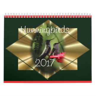 Kolibri-Kalender 2017 - ändern Sie Jahr, wie Kalender