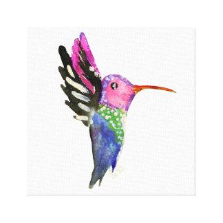 Kolibri-kindische Aquarell-Malerei Leinwanddruck