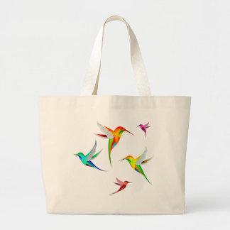 Kolibri-Menge niedlich - buntes Vogel-Aufpassen Jumbo Stoffbeutel