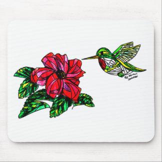 Kolibri mit HibiskusMausunterlage Mauspad