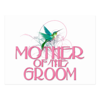Kolibri-Mutter des Bräutigams Postkarte