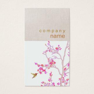 Kolibri-rosa Blumen-Geschäfts-Karte Visitenkarte