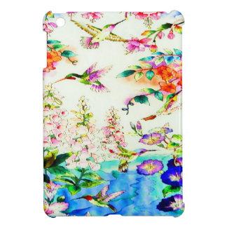 Kolibri-Rosa-Blumen iPad Mini Hülle