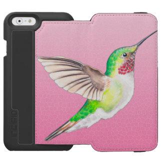 Kolibri-rosa Buntglas Incipio Watson™ iPhone 6 Geldbörsen Hülle