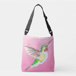 Kolibri-rosa Buntglas Tragetaschen Mit Langen Trägern